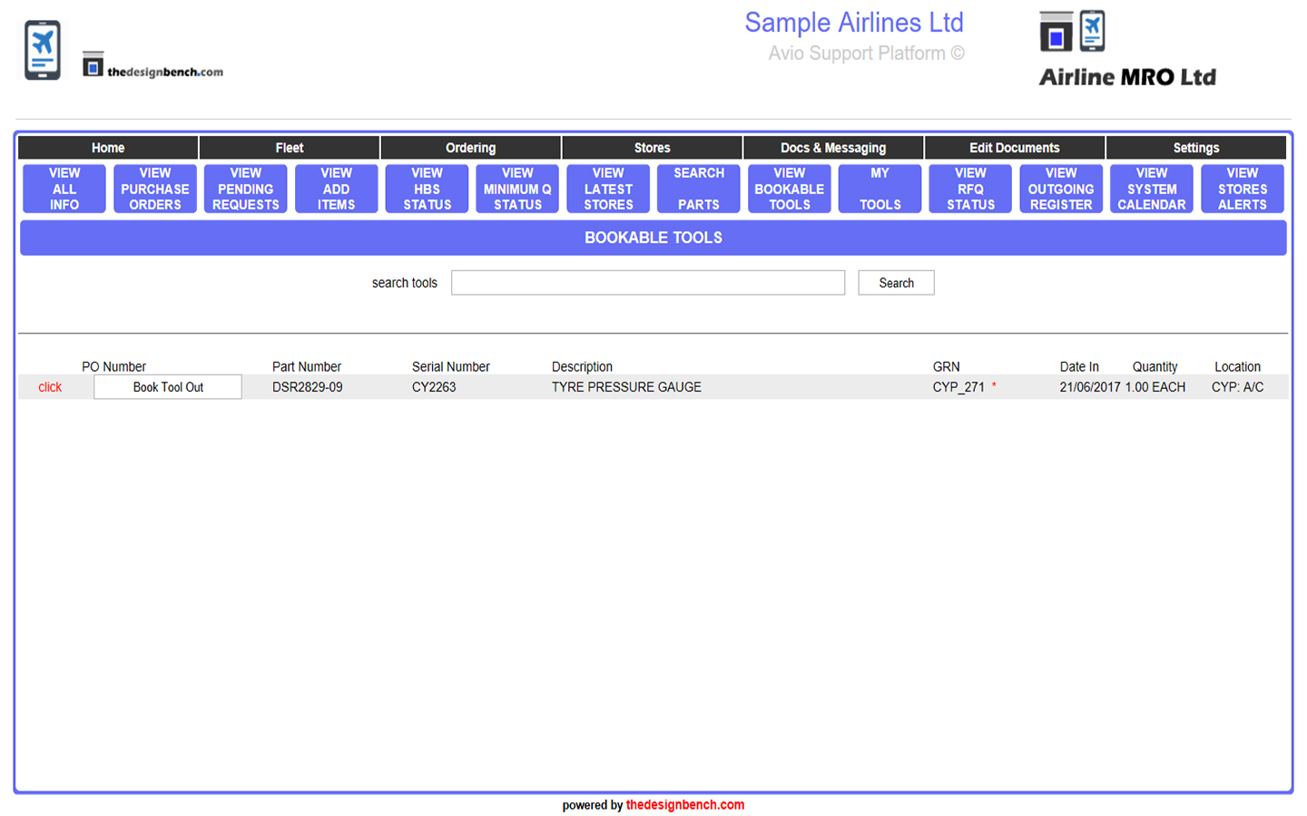 Tools Booking System
